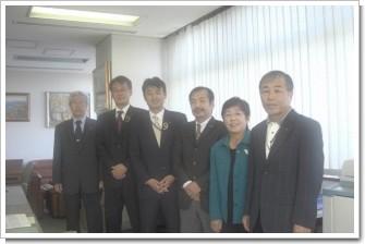 左から、野口博、安藤かおる、ひろ豊、山崎雅数、川口純子、山本靖一(新控え室にて